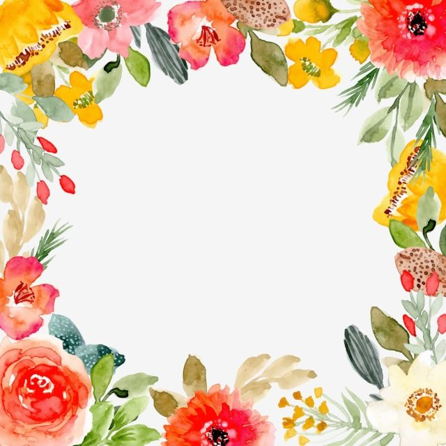 Beautiful Vintage Watercolor Floral Frame Free Emplate Vintage