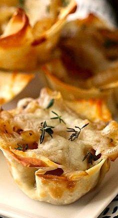 foodie fridays: french onion soup wonton bites