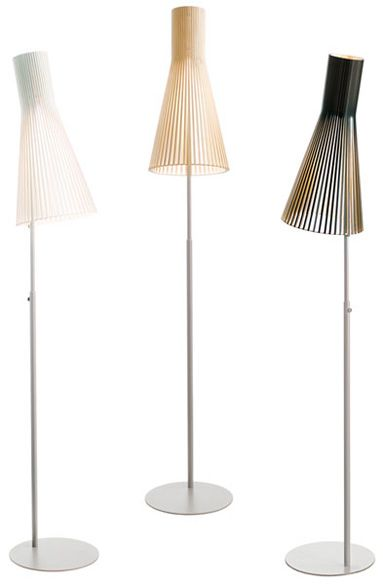 Secto Design, Designed by Seppo Koho: Secto 4210.     Secto Design lamp shades are handmade of Finnish birch.