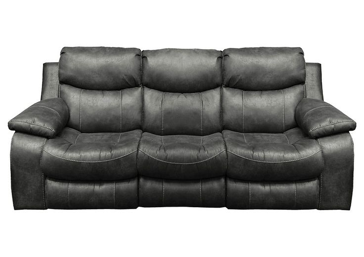 Catalina Steel Bonded Leather Reclining Sofa