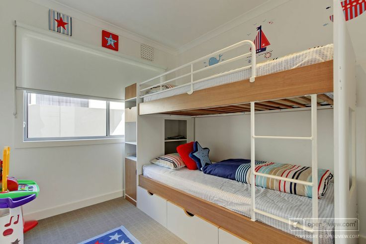 Great bunk bed and storage combo!