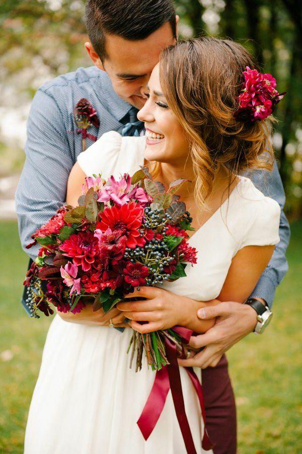 Les 25 Meilleures Id Es Concernant Bouquets De Mari E Rouges Sur Pinterest Fleurs De Mariage