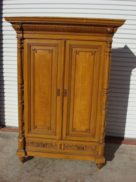 german antique pine armoire antique wardrobe cabinet antique furniture retro vintage antique. Black Bedroom Furniture Sets. Home Design Ideas
