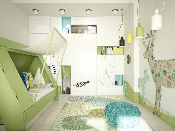Kinderkamer inspiratie. Voor meer kinderkamers kijk ook eens op http://www.wonenonline.nl/slaapkamers/kinderkamer/ #kidsroom #kinderkamer