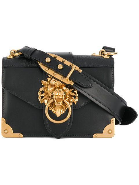 2a7504a7dd Shop Prada Cahier lion-embellished shoulder bag | Style in 2019 ...