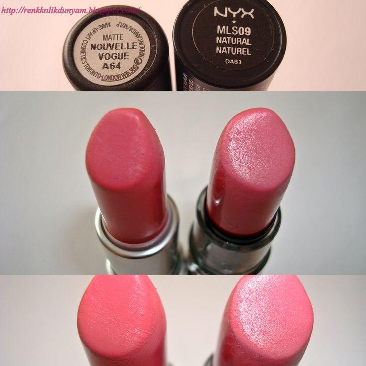 Mac 'Nouvelle Vogue' mat ruj __ NYX Mat Ruj No: 09 Natural