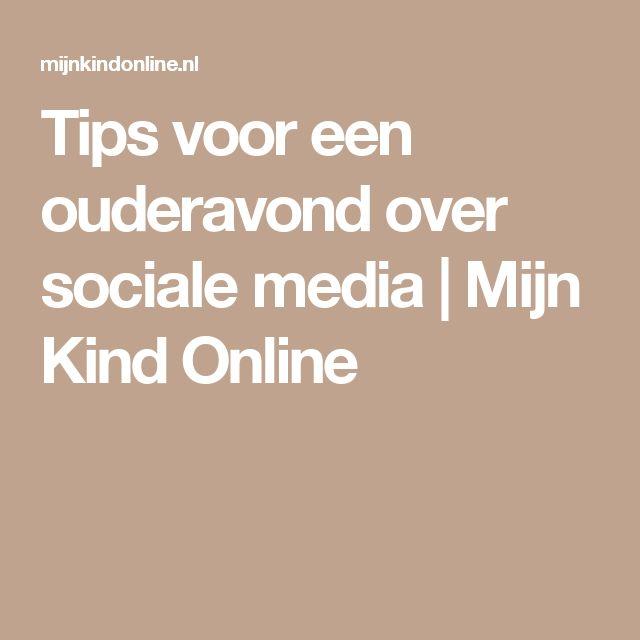 Tips voor een ouderavond over sociale media | Mijn Kind Online