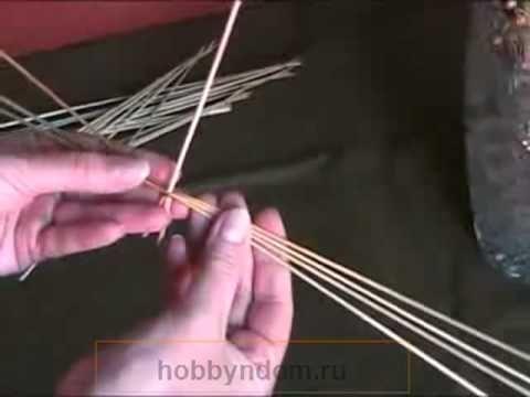 Плетение из соломы Камышик круглый.mp4 - YouTube