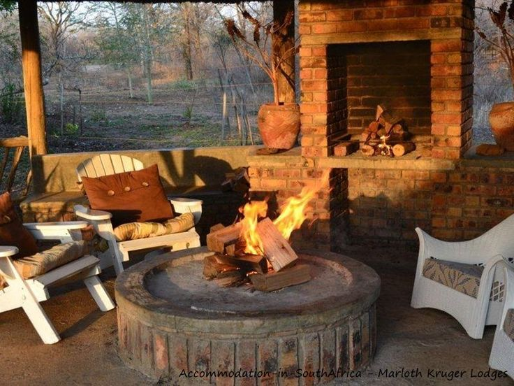 Marloth Park Lodges. Relax at a boma at Marloth Kruger Lodges.