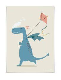 Poster Vierundfünfzig Illustration Bilder kinderzimmer