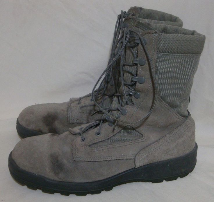 Wellco US AIRFORCE Boots Military Combat Gear Lace Up Sage Suede Canvas 11.5 W #Wellco #Military