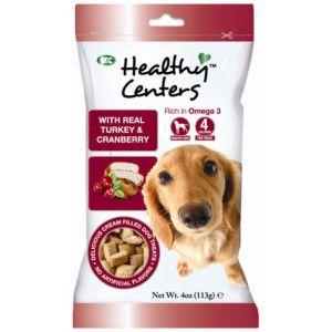 Healthy Centres de Pavo y Arándanos, snacks para perros con gran sabor. Sin colorantes ni sabores artificiales. Rico en Omega 3.