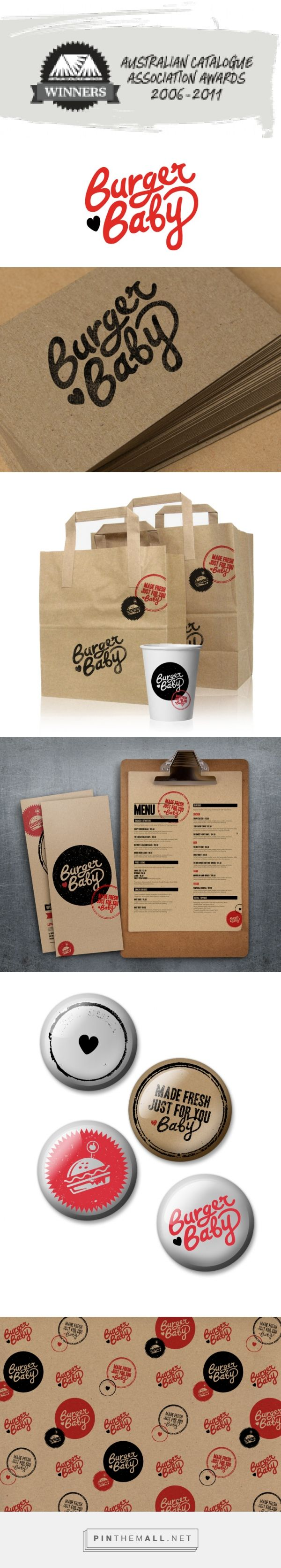 Burger Baby logo and #packaging Emedia Creative curated by Packaging Diva PD. Who's ready for a burger baby : ) created via http://www.emediacreative.com.au/project/burger-baby-logo/