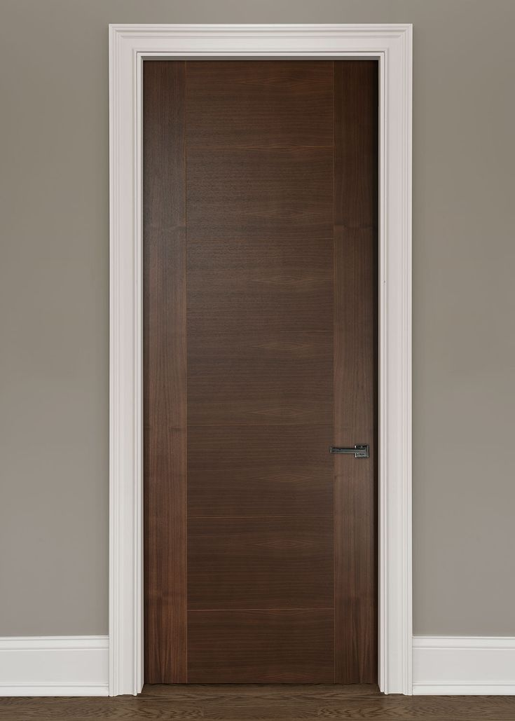 ... Core Wood With Natural Walnut Finish, Modern, Model Solid Core Modern  Interior Walnut Wood Veneer Door With V Grooves That Is Pre Hung And  Prefinished ...