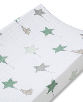 up up and away - elephant classic changing pad covers made of muslin cotton - $24.95