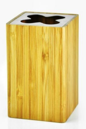 Mediterranean Style Bamboo Toothbrush Holder. Mediterranean Toothbrush Holder of Bamboo.