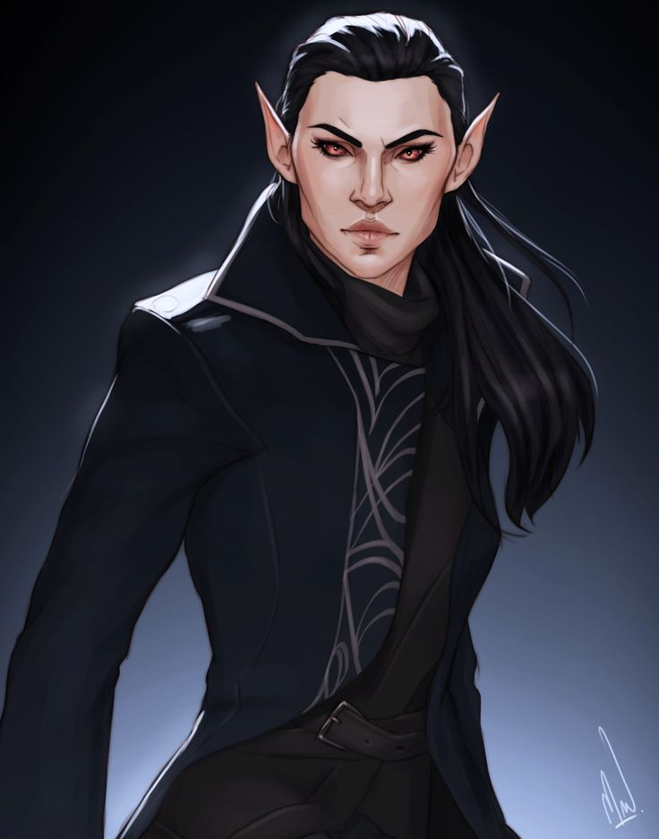 """elfeers: """" I commissioned @cocotingo for a drawing of my ESO OC, Raya! I'm super happy with how she turned out because I'm 100% sure she could kick my ass. """""""