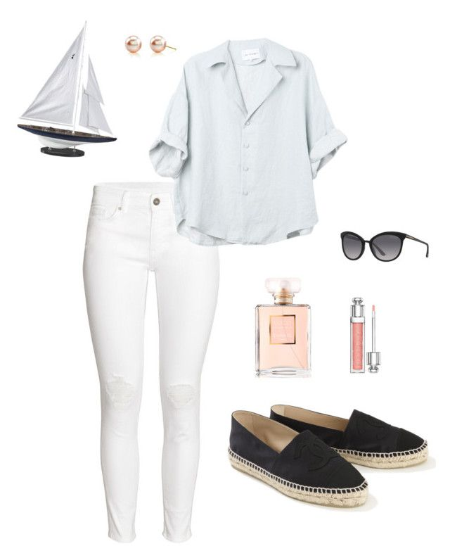 Anastasia Steele - Day trip on The Grace by ohmyfifty on Polyvore featuring H&M, Chanel, Tom Ford, Christian Dior and Authentic Models