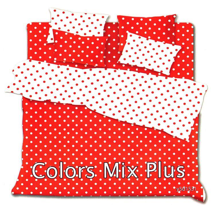 Постельное белье красное в горошек - Амавес-текстиль