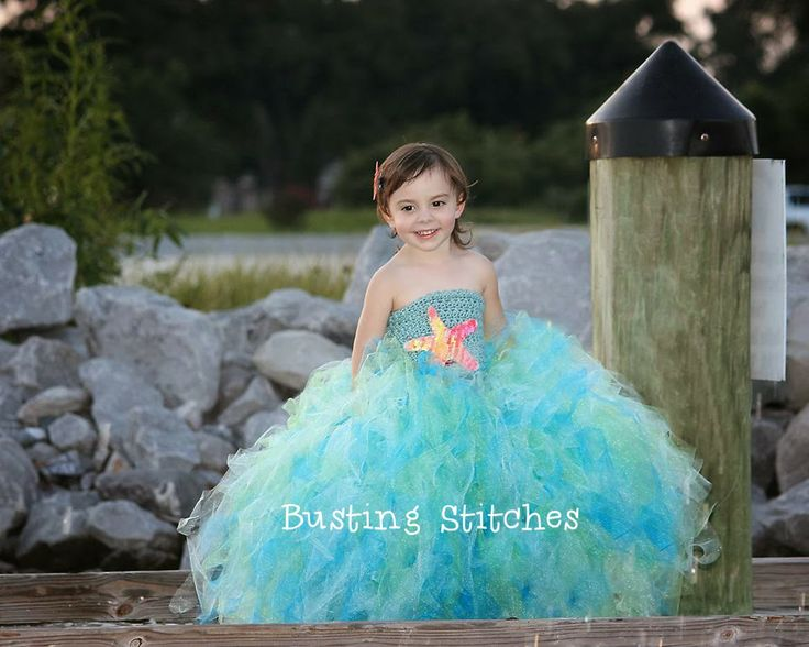 Free Mermaid Princess Tutu Dress All Sizes - pattern to make (obviously without the starfish, lol)