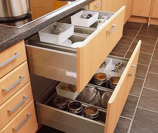 49 best images about kitchen accessories on pinterest for Sliding drawers for kitchen cabinets