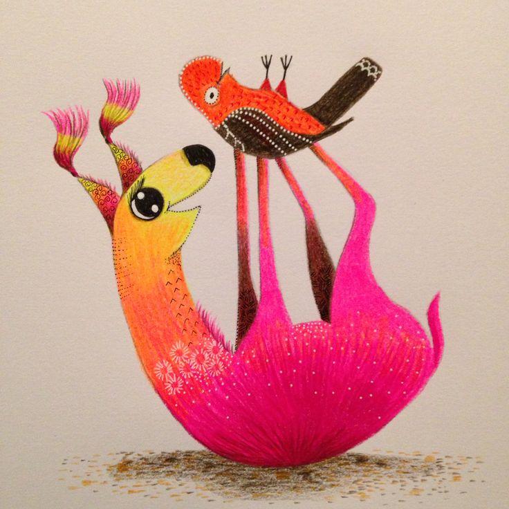 Character illustration by Debi Hudson. Vicuña & Tunki