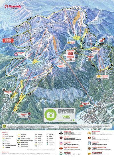 Best Heavenly Ski Resort Ideas On Pinterest Lake Tahoe - Map of us ski resorts