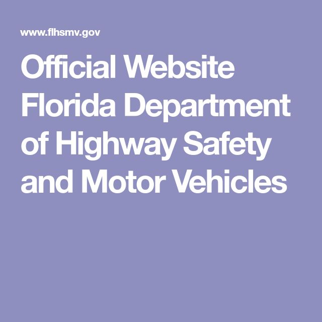 Official Website Florida Department of Highway Safety and Motor Vehicles