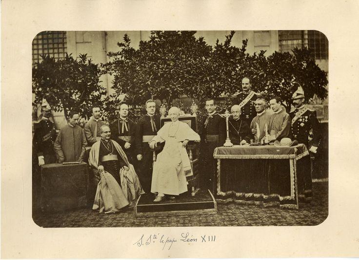 Italia - Il papa Leone XIII e cardinali    #Europe #Italia #Costumi_Types