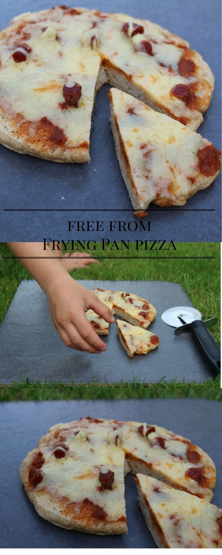 Simple, easy, free from frying pan pizza. Great for camping or a simple meal. Gluten-free, Egg-free, Nut-free, Soya-free, Sugar-free and can be Dairy-free!