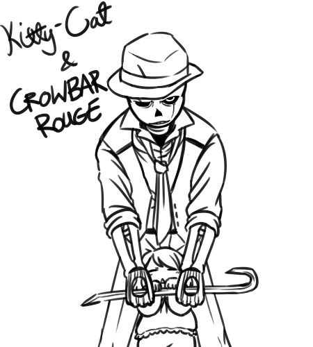 I don't…know…what to comment……I just felt like drawing it? XDOriginal Gaster!Sans is Borurou's!UT Mob Gaster!Sans is @junkpilestuff