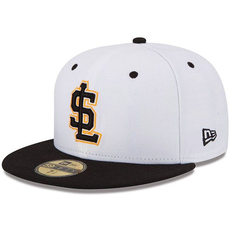 Salt Lake City Bees New Era Authentic Collection On Field 59FIFTY Fitted Hat - White/Black