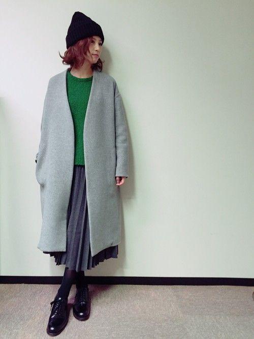 安田美沙子さんのダウンジャケット/コート「ENFOLD 」を使ったコーディネート