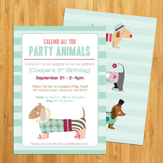 7 best Pet Invitations images on Pinterest Dog parties