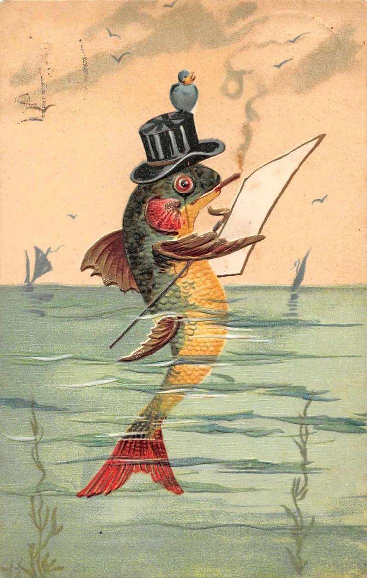 торжественный открытки с рыбами возникновении