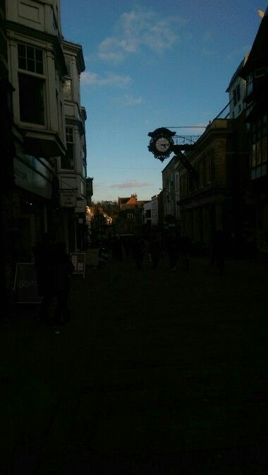 Winchester City Centre: view of the High Street