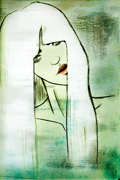 Marleen van de Velde #illustration #blond #girl