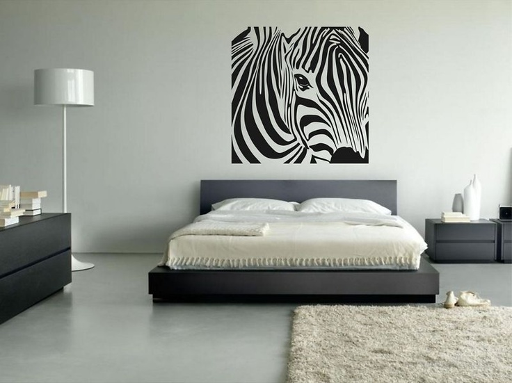 Zebra Sticker   Urban Wall Art Graffiti Mural Decor Animals Bedroom Print  Animal