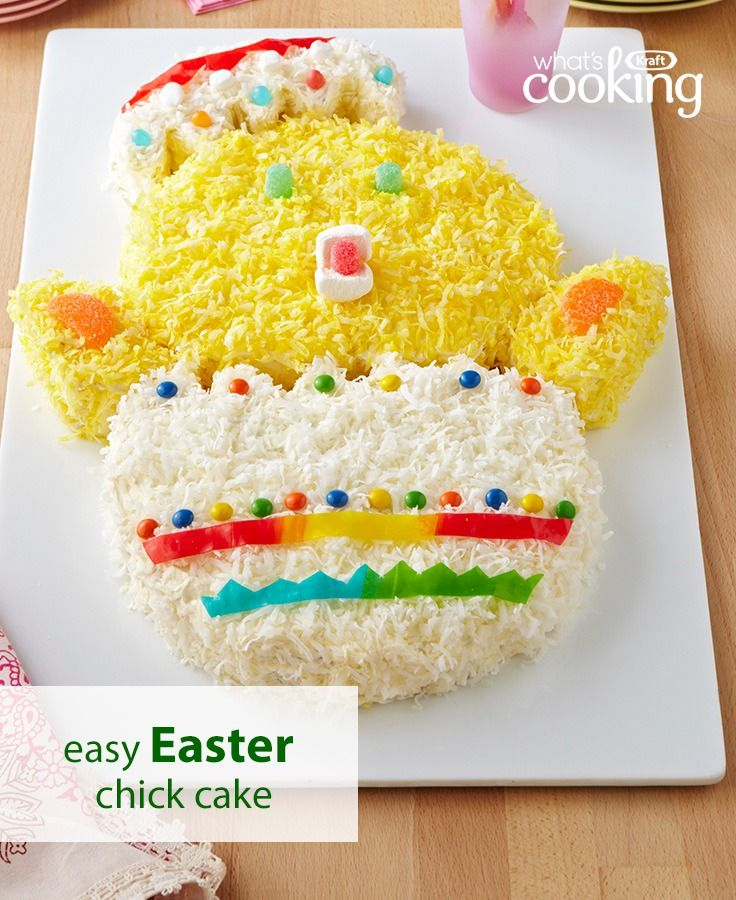 Everyone will be chirping at your Easter table when you present this show-stopping cake. Tap or click photo for this Baby Chick Cakes #recipes.