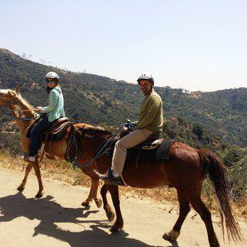 Horseback riding in Hollywood Hills
