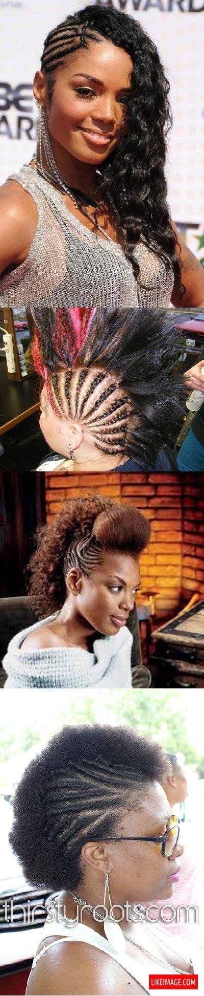 Braided mohawk hairstyles - 9 PHOTO!