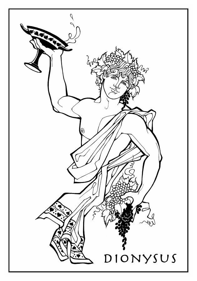 Διόνυσος Σχέδιο - Διόνυσος Fine Art Print