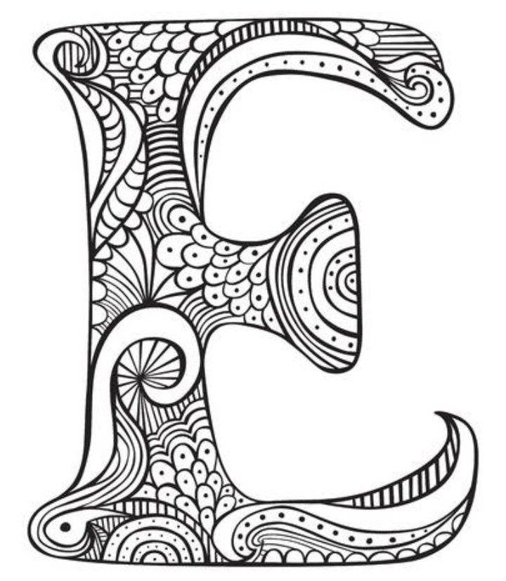 Pin Von Beata Petruska Auf Mandalas Alphabet Malvorlagen Ausmalblatt Kostenlose Ausmalbilder