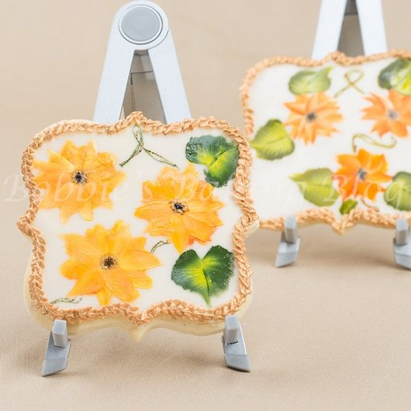 Painted Sunflower Cookie Tutorial - Tutorial - Cake Central