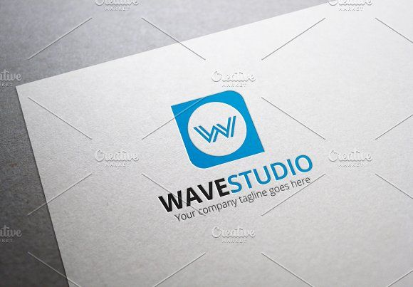 Wave Studio Logo by XpertgraphicD on @creativemarket