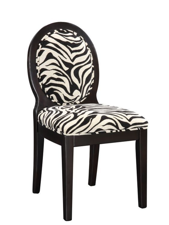 Zebra Accent Chair Occasional Side Chairs Print Dining ...