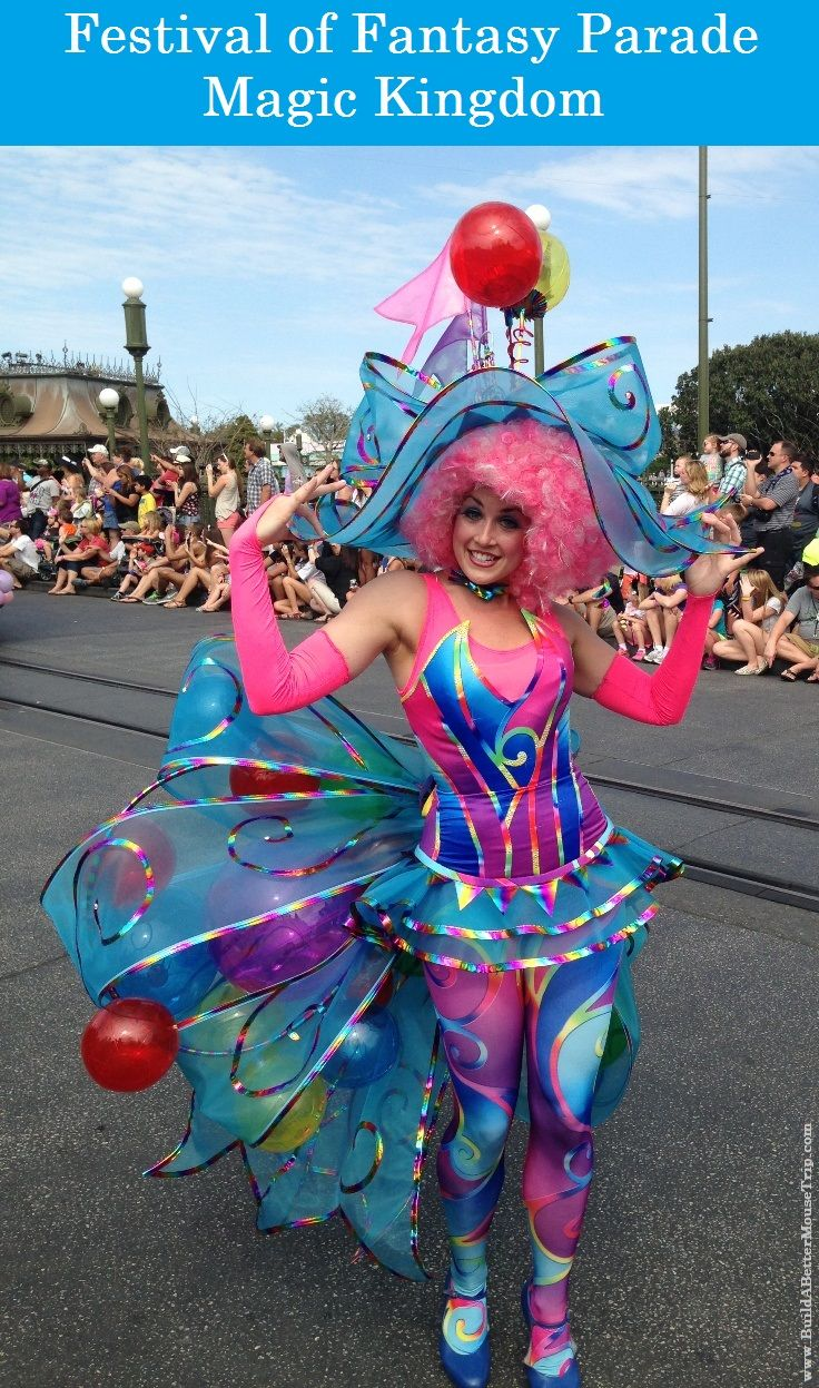 Bubble Girl in the Festival of Fantasy Parade in the Magic Kingdom at Disney World. The parade travels through Frontierland and is offered most days at 3PM. Photo by Lisa at www.BuildABetterMouseTrip.com  #MagicKingdom #FestivalofFantasy