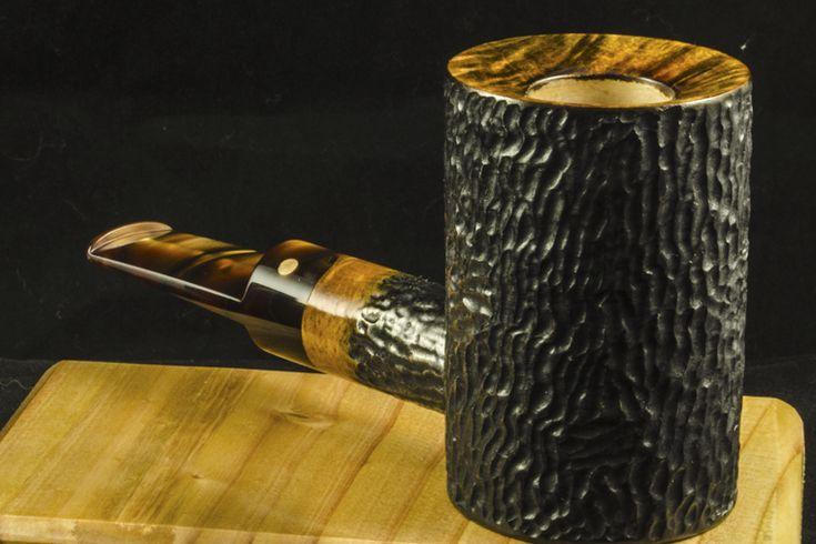 Scott Hudson Pipes, Handmade Custom Tobacco Smoking Pipes Rusticated 1941 Silver Dollar Pipe No. 2015.04.30.1