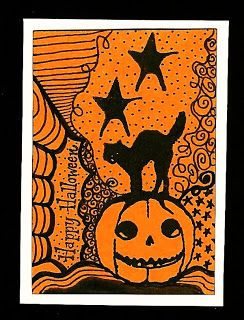 halloween zentangle | Nostalgic Halloween: TMTA - Zentangle Halloween