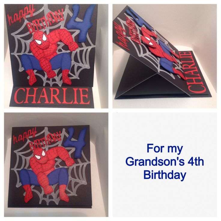 I used the punch art spiderman made by Natasha Hein to make this card for my grandson.